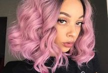 Pink wavy lob hair / EvaHair Pink wavy lob hair. More about fashion pink