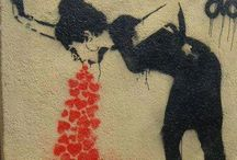 Street art and guerrilla advertising