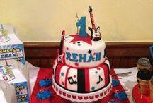 Rehan's Rockstar Birthday Party / www.trendyfunparty.com Atlanta,GA