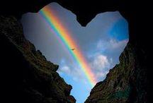 Somewhere under the rainbow / Rainbows and Auroras