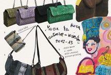 "Maria La Rosa / #bags #socks #accessoires #clutch ""handmade ""italy ""marialarosa"