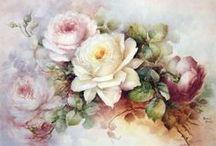 Flores lindas / По мере развития общества видоизменялось и развивалось понятие красоты, красивые цветы и растения, доступные каждому, служили и источником вдохновения, и средством выражения многих чувств. Причины популярности цветочного натюрморта можно найти в особенностях быта нидерландского общества — традиции иметь сады и загородные виллы.Римляне ценили розу за изысканность и аромат. Богатый материал цветочной композиции представлен на полотнах старых мастеров живописи.