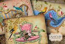 ART- almofada / Усложнение изготовления красителей и техники шитья привело к превращению подушки в предмет искусства, богато украшенные подушки стали дорогостоящим товаром вначале в Китае, а позднее и в Средневековой Европе. Гора подушек — знак предстоящего отдыха, наслаждения покоем. Красивая подушка — удовольствие!