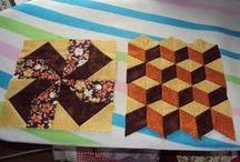 Patchwork ... / patchwork,aplikace,šití přes papír