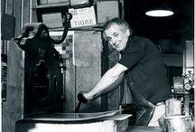 La stamperia - La storia / Giorgio Upiglio Calcografia Litografia Xilografia - Milano Foto storiche, artisti, stamperia  The History of printing from 1950 to today.