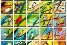 Bird art projects / Fun art projects to create eagles, parrots, doves, and owls in honor of the birds from the fable, Taking Flight!