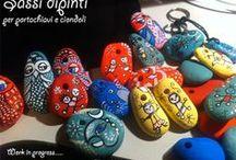 Painted Stones /  ♥ I miei sassi  scelti ,raccolti e dipinti. ♥