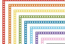 FREE Clip Art: Borders & Frames / Awesome free clip art borders, frames and accents for including in projects. Great for teachers producing classroom resources.
