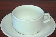 Cesti si farfurii din portelan pentru cafea/capucino