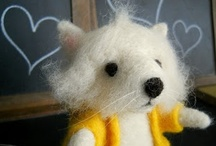 Needle Felted & Wool / Began needle felting when our children were little ones. I could felt a tuft of wool into a friendly critter & cheer their hearts for pennies! Today I felt to bring some of my little sketches to life~ / by Michelle Palmer