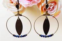Bijoux : boucles d'oreilles/earrings  / Mes créations de boucles d'oreilles