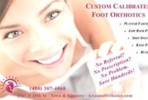 Custom Calibrated Foot Orthotics / When you're done wasting time and money with inferior products, consider Arizona Orthotics. We proudly offer the only custom calibrated foot orthotic on the market. Every made-from-scratch custom foot orthotic  is designed to optimize pronation and supination which means the cause of foot problems is eliminated.   Arizona Orthotics is located right here in Phoenix Arizona and we're ready to help YOU. Call us today, 480-307-4060.