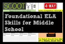 Foundational ELA Skills for Middle School / Skill-based, mixed-skill practices of foundational literacy skills for Middle School ELA. Includes original and innovative ways to engage students in review, like Scoot, and motivational strategies to keep students invested in literacy.