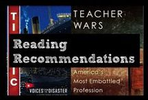 """Reading Recommendations / Great books for 7th graders and resources/ lessons you can use with these books + reading recommendations for the teacher practitioner who seeks to better understand education and the proverbial desire to get """"better."""""""