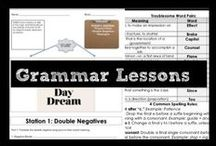 Grammar Lessons / Foundational grammar lessons for middle schoolers. Use skill-based lessons to review and assess knowledge. Mixed-skill practices force students to determine many grammar skills to determine the correct answer.