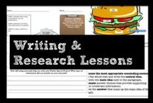 Writing & Research Lessons / Lessons teaching foundational skill-based writing and research lessons. Includes choosing a focused research topic, selecting reliable sources, and drafting effective/logical paragraphs.