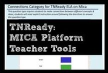 TNReady: MICA Platform Teacher Tools / Do you know how to navigate the MICA platform? Do you know all the question types for Middle School ELA? Use these pins to understand the tools available for teachers on MICA, tips for students, and an overview of each question type.