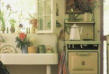 Aunt Winnie~ / Country kitchen and pantry. Stepping back in time~