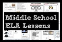 Middle School English Language Arts Lessons / Targeted for 7th grade ELA, this board includes classroom resources like anchor charts, formative and summative assessments, Common Core-aligned projects, and lessons for reading comprehension, writing, grammar, research, communication, and media.
