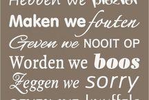 Teksten / Borden, kaarten, posters , muur...