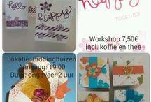 Stampin'Up inspiratie & workshops / Diverse creaties gemaakt met producten van Stampin'Up