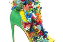 Flower inspired shoes / Because flower prints are hot this season. In the mood for pretty flower shoes!