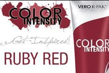 Color Intensity: Ruby Red / GET INSPIRED: Color Intensity Ruby Red allows you to create dark red looks... or mix it with other intermixable Color Intensity Shades for a look all of your own! #joicointensity #colorintensity