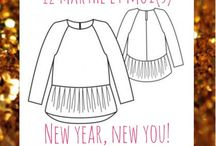 New year, new you! / Thème de janvier [ patron Marthe de République du Chiffon ]