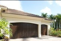 Eden Coast Garage Doors / These Eden Coast Garage Doors give you the look and feel of wood without all the headaches and maintenance. They are custom-designed doors that incorporate composite overlays applied to steel, hurricane-rated garage doors. This added strength is perfect for your Florida home. Design the door of your dreams today!
