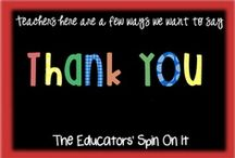 We love our teachers and staff / a creative place to find ideas on how to show our teachers how much they mean to us.