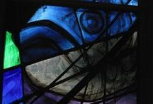 Animals in Stained Glass  / Examples of animals represented in stained glass.