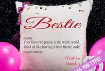 Cushions / Our new range of personalised word cushions