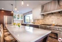 """Mission Viejo - Kitchen And Bath Remodel / This structural redesign was created for a client of ours in Mission Viejo. The theme for this space was """"entertaining dream""""."""