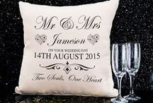 Wedding gifts / Our wedding gift designs - available of cushion, canvas and print.