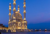 Mosque, Arabic and Moroccan arcitecture