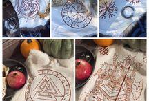 Ritual and altar decorations / Runes, pelts, altar pieces