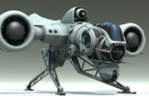 ☢ Another space and time ☢ / I love spaceships from 1970 to the future. Both models and concept art