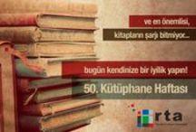 Kütüphaneler Haftasını Kutluyoruz.. / Kütüphane ve bilgi kurumlarına yönelik farkındalıklarının geliştirilmesi, okuma ve kütüphane kullanma alışkanlıklarının pekiştirilmesi için konferanslar, atölyeler, yazar söyleşileri…daha fazlası İstanbul'un keşfedilmeyi bekleyen kütüphane ve bilgi kurumlarında katılımcılarını bekliyor… 1 Nisan 2014 Salı gerçekleştirilecek resmi açılış töreninde, Yılın Kütüphane Dostu ödülü sahibini bulacak. Rta Yazılım okuyor geliştiriyor ve destekliyor..