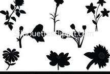 FLOWER VECTOR GRAPHICS / Silhouette is a collection of Vector design resources that help make your flyers, brochures, websites, apps, themes, and other designs even more unique with less time.