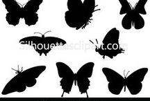 INSECTS VECTOR GRAPHICS / Silhouette is a collection of Vector design resources that help make your flyers, brochures, websites, apps, themes, and other designs even more unique with less time.
