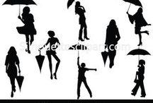 WOMEN VECTOR GRAPHICS / Silhouette is a collection of Vector design resources that help make your flyers, brochures, websites, apps, themes, and other designs even more unique with less time.