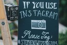 Wedding Chalkboard & Sign Ideas / Personalize your wedding with a chalkboard or hand painted sign