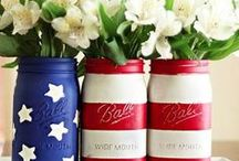 """All-American Crafts / From """"Purple Mountain's Majesty"""" to the red, white, and blue - we celebrate America the Beautiful."""