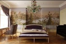 beauty: home: bedroom inspiration / I want something opulent and luxurious, but with period charm - no modern black lacquer interiors for me.