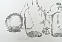 Teckning Drawing classes / Elevarbeten -- Art classes