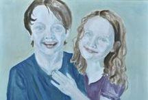 Porträtt Portrait classes / Art classes -- Elevarbeten
