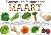 Groente- en fruitkalender / Eet groente en fruit van het seizoen