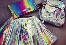 Holographic Iridescent, Metallic & Neon; Sea Punk Style. Jewels, Sequins, Vinyl (PVC), Latex & Foil. / by Verónica Marel H Pachón