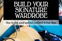 Build Your Signature Wardrobe / Wardrobe building tips, tricks and resources to help you develop a uniquely stylish and appropriate look. http://alexandriablaelock.com/book/build-your-signature-wardrobe/