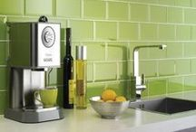 Modern Kitchens / Bright, modern kitchens with a pop of colour!